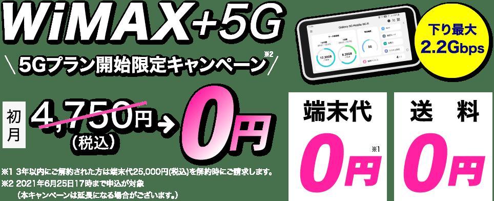 カシモ WiMAX +5Gギガ放題